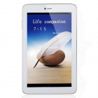 "AMPE A72 3G 7"" IPS Android 4.2.2 Dual Core 3G Phone Tablet PC w/ 512MB RAM, 8GB ROM, GPS - White"