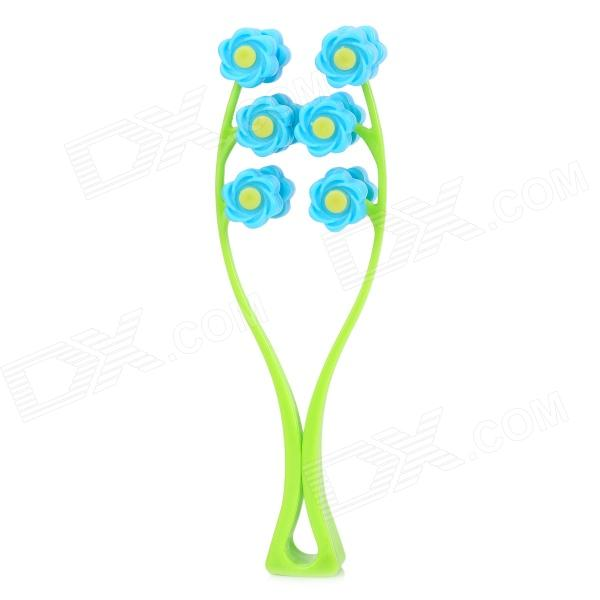 Buy Manual PP Face-Lifting Rolling Ball Massager - Green + Blue with Litecoins with Free Shipping on Gipsybee.com