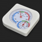 A2260 Desktop Thermometer / Hygrometer - White + Red + Multicolored