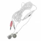 KEENION KDM-E002 Stereo Bass In-Ear Earphone w / Volume Control and Microphone - White