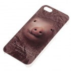 C100005 Animal Series Cute Pig Style Protective Plastic Back Case for IPHONE 5 / 5S - Brown