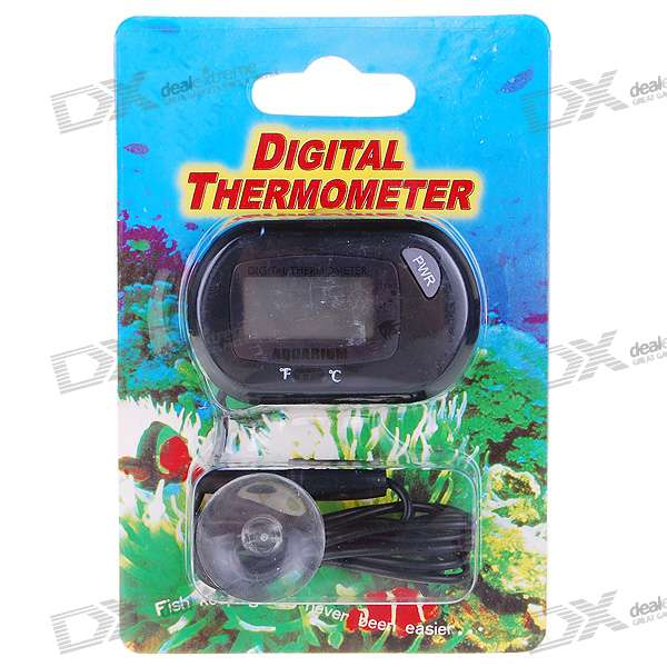 "1.1"" LCD Fish Tank Aquarium and Ambient Temperature Digital Thermometer (1*LR44)"