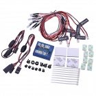 New No Solder Realistic 12-LED Lighting Kit for RC Cars / Trucks 1/10th Scale / Smaller - Black +Red
