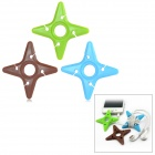 Stylish Star Style Soft Plastic Cable Organizer Winder - Green + Blue + Chocolate (3 PCS)
