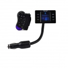 "1.5"" LCD MP3 Player FM Transmitter + Bluetooth Hands-Free w/ Steering Wheel Mount Control - Black"