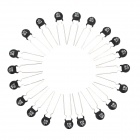 NTC 8D-9 Thermistors Set - Black + Silver (20 PCS)
