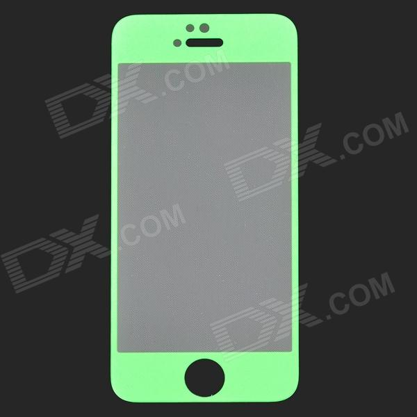 GLASTO 9H Protective Tempered Glass Screen Protector for IPHONE 5 / 5S - Light Green + Transparent