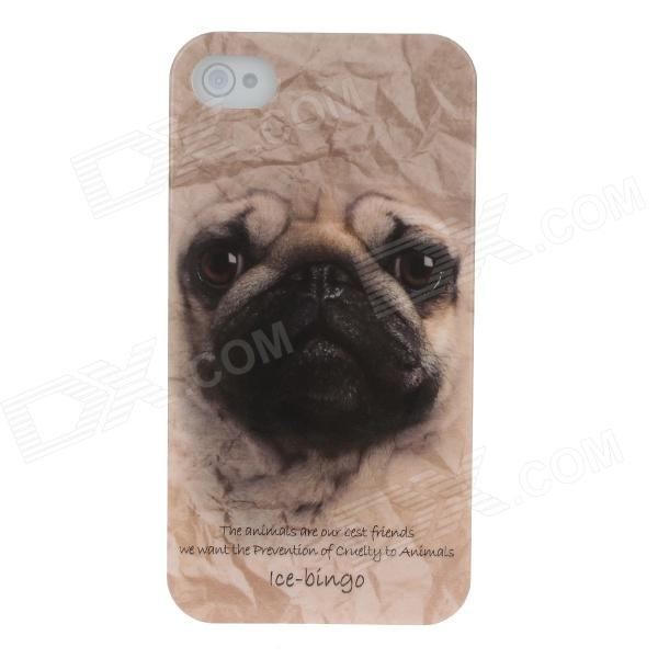 Animal Series Cute Dog Style Phone Case Cover for IPHONE 4 / 4s - Claybank + Black
