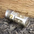KINFIRE 6-LED 3000lm 3-Mode White Flashlight - Golden (4 x 18650)