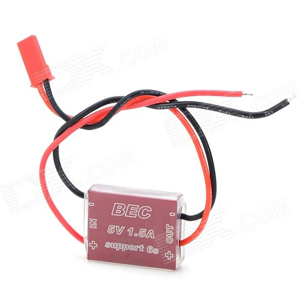 FPV 1.2G 5.8G Micro BEC w/ CNC Enclosure 5V 1.5A Output 2S-6S for FPV Telematry - Red