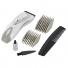 HAPPY KING HK-A009 Convenient Household 3W Electric Hair Cutter - White + Silver (2 x AA)