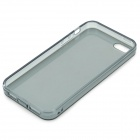 S-What Protective TPU Case w/ 3.5mm Anti-dust Plug for IPHONE 5 / 5S - Translucent Black