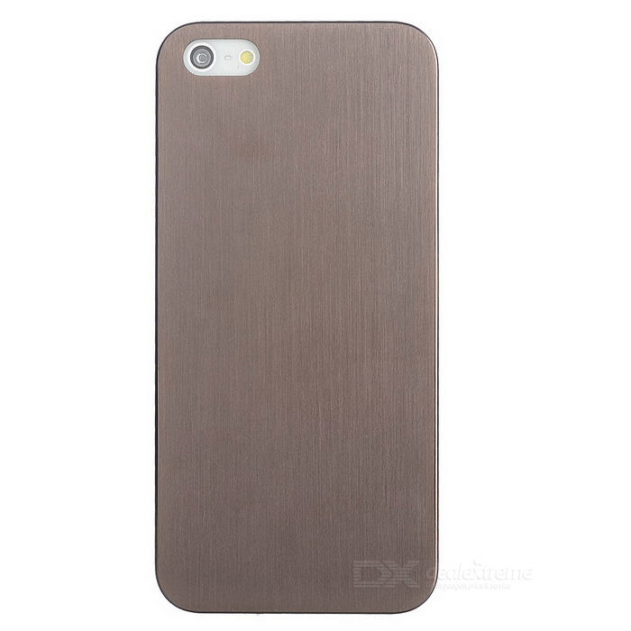 Protective Titanium Alloy Back Case for IPHONE 5 / 5S - Brown