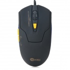 JEWAY JM1200 USB 2.0 Wired Gaming Mouse - Black + Yellow (Cable-120cm)