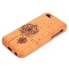 ZY-203 Dandelion Pattern Detachable Protective Wood Back Case for IPHONE 5C - Wood