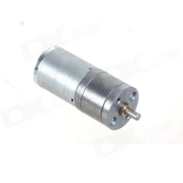 ZnDiy-BRY DC 12V 100RPM / DC 6V 50RPM High Torque Gear Motor - SilverMotors<br>BrandZnDiy-BRYModel25GA-100Quantity1 DX.PCM.Model.AttributeModel.UnitForm  ColorSilverMaterialIronEnglish Manual / SpecNoOther FeaturesVoltage: DC 12V / 6V; RPM: 100RPM / 50RPM; Length: 68mm; Diameter: 25mm; Shaft length: 9.5mm; Shaft diameter: 4mm; Torque: 4kg/cm.Packing List1 x Gear Motor<br>