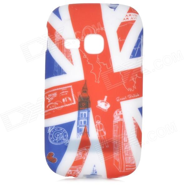 Graffiti Style Big Ben Pattern Back Case for Samsung Galaxy Young S6310 / S6312 - Multicolored