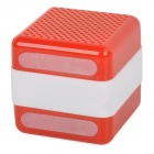 Q3 Portable Wireless Bluetooth V2.1 Car Speaker w/ Microphone / Micro USB - Red + White