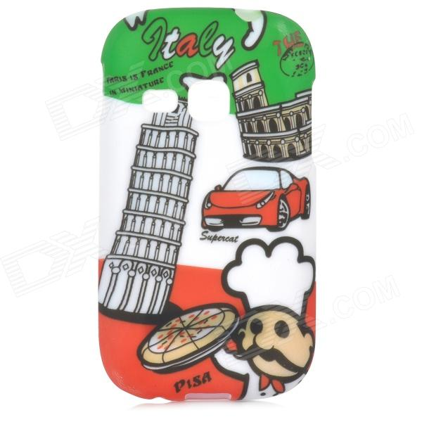 Graffiti Style Pisa Tower Pattern Back Case for Samsung Galaxy Young S6310 / S6312 - Multi-Colored