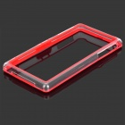 Protective TPU + PVC Bumper Frame for Sony Xperia Z1 / L39h - Red + Transparent