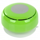 Q2 Waterproof 3W Bluetooth V2.1 Speaker w/ Microphone - Green + Transparent + Multicolored