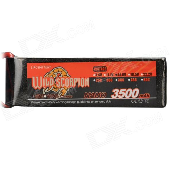 14.8V 3500mAh 30C Replacement Li-Poly Battery for RC Helicopter / Car / Boat + More - Black + Red
