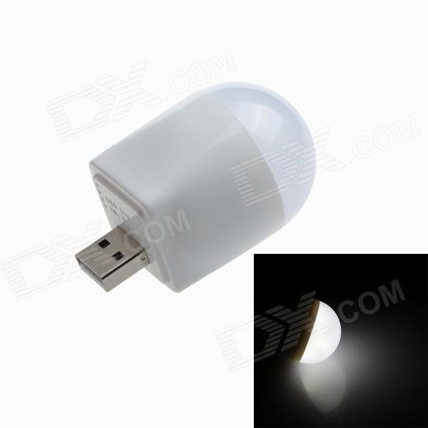 Mini 180lm 1.5W LED USB Powered Emergency Light Lamp for Mobile Power Bank - White