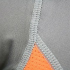 Outdoor Sports Cycling Elastic Polyester Tight Short T-shirt for Men - Grey + Orange (L)