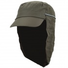 OUTFLY Outdoor Polyester Sunproof Cap w/ Collapsible Neck Cover for Men - Army Green