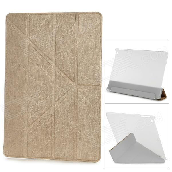 YSY Transformable Protective PU Leather + Plastic Case for IPAD AIR - Golden