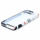 Cool Graffiti Style Protective TPU Back Case for IPHONE 5 / 5S - White + Black