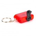 lpx-01 Hand-cranking Charging Keychain w/ 2-LED - Translucent Red