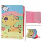 Cute Giraffe Style Protective PU Leather + Plastic Case for IPAD AIR - Yellow + Blue + Pink