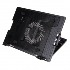 "HH646 USB 2.0 Cooling Pad 1-Fan Cooler for 9""~17"" Notebook / Laptop - Black"