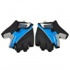 LYCCO C102 Half-finger Cycling Glove - Black + Blue (M)