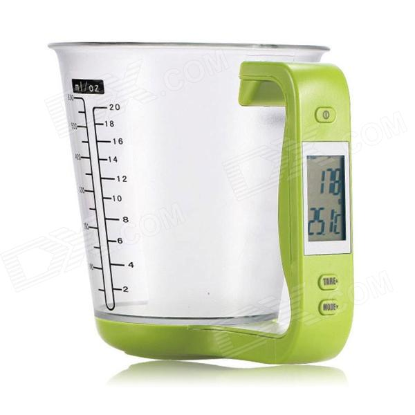 Eastor LN0018 Digital Capacity Measuring Cup Thermometer Scale - Yellow Green (3 x CR2032)