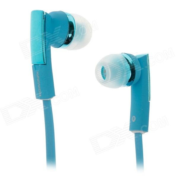 KEENION KDM-E810 Stylish Stereo Bass In-Ear Earphones - Blue (120cm-Cable / 3.5mm Plug)