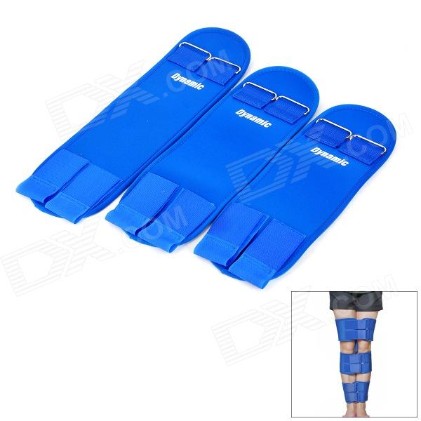 O / X Type Leg Straightening / Correcting / Beautifying Neoprene + Lycra Belt Set - Blue (M)