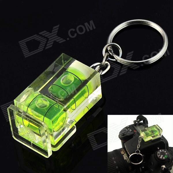 Ring Type 2D Bubble Spirit Level on Camera Hot Shoe - Green + Transparent