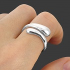 Water Drop Style 925 Silver Plating Ring - Silver White