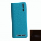 "Portable ""5600mAh"" Mobile Power Source Bank w/ 1-LED Flashlight for IPHONE / HTC / Samsung - Blue"