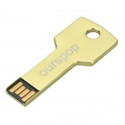 OURSPOP Key Style USB 2.0 Flash Drive Disk - Golden (4GB)