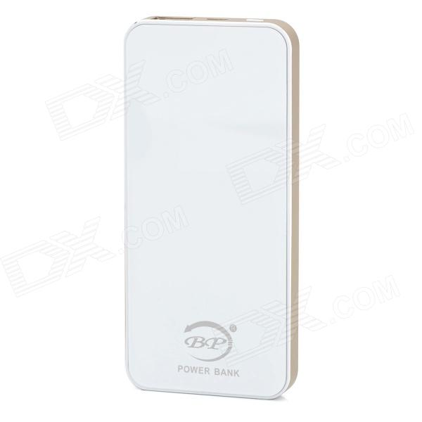 BP-5S Ultra-thin 6000mAh Mobile Power Source Bank for IPHONE 5S / Samsung / HTC - Golden + Silver