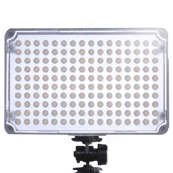 Aputure Amaran AL-H160 13W 2500lm 5500K 160-LED Video Light CRI 95+ - BlackLighting and Flash<br>Form  ColorBlackBrandAputureModelAL-H160MaterialABS PlasticQuantity1 DX.PCM.Model.AttributeModel.UnitCompatible BrandCanon Nikon Sony Olympus PentaxCompatible ModelsDSLR / CamcorderActual Lumens2860 DX.PCM.Model.AttributeModel.UnitTheoretical Lumens2500 DX.PCM.Model.AttributeModel.UnitTypeLEDVarible Focus NoColor Temperature5500KIllumination Angle60°Working Voltage   DC 5.5~9.5 DX.PCM.Model.AttributeModel.UnitPower13 DX.PCM.Model.AttributeModel.UnitLED Quantity160 DX.PCM.Model.AttributeModel.UnitBattery TypeAA,Li-polymer batteryBattery included or notNoBattery Quantity6 x AA batteries; Sony NP-F series: NP-F550 / F570 / F770 / F960 / F970; Sony NP-FM / QM series: NP-FM50 / FM51 / FM55H / FM500H / QM50 / QM51 / QM71D / QM91D; Sony NP-FP / FH/FV series: NP-FP50 / FP60 / FP70 / FP90 / FH50 / FH60 / FH70 / FH90 / FH100 / FV50 / FV60 / FV70 / FV100 DX.PCM.Model.AttributeModel.UnitOther FeaturesAverage life span: 100,000 hours; CRI&gt;=95RaPacking List1 x Light1 x Lamp bracket1 x Diffusion filter1 x Color temperature orange filter1 x Extension attachment1 x Chinese / English user manual1 x Guarantee card1 x Brochure<br>