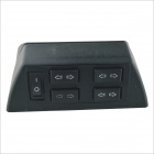 Filas Auto Plastic Shell Side Doble Ventana Power Master Button Switch - Negro (15 ~ 20V)
