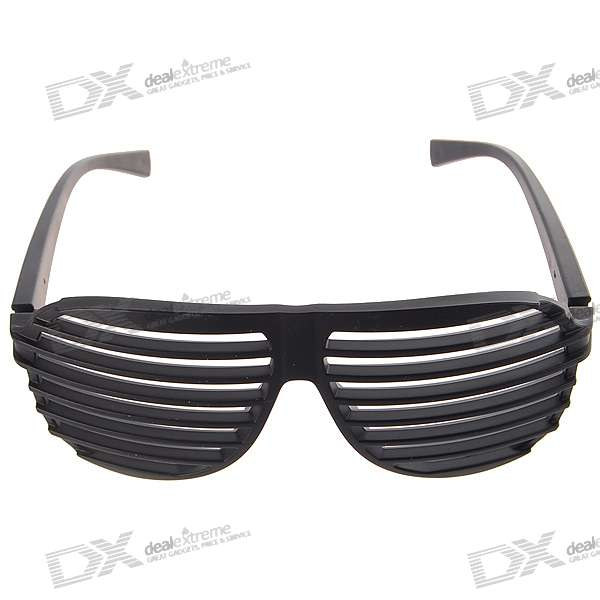 Black PVC Stripe/Shutter Shades