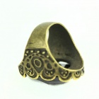 Retro Rhinestone Zinc Alloy Ring - Black + Bronze