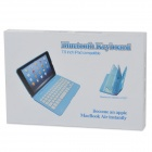 Ultra-Slim Bluetooth v3.0 59-Key Keyboard w/ Cover for IPAD MINI 2 - Silver Grey + White