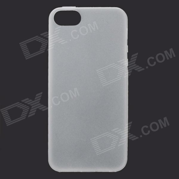 Ultra-thin Protective TPU Matte Back Case for IPHONE 5 / IPHONE 5S - White