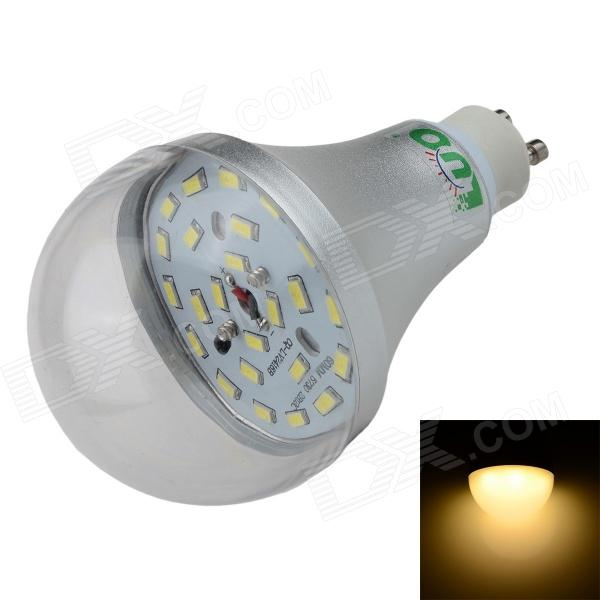 LUO GU10 12W 1000lm 3000K 24-SMD 5630 LED Warm White Light Bulb - Silver + Transparent (85~265V)